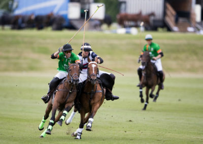 Luxury Self Catering - 3 polo players on horses charging